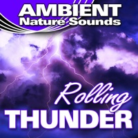 Ambient Nature Sounds - Cracking Thunder Claps And Steady Rain
